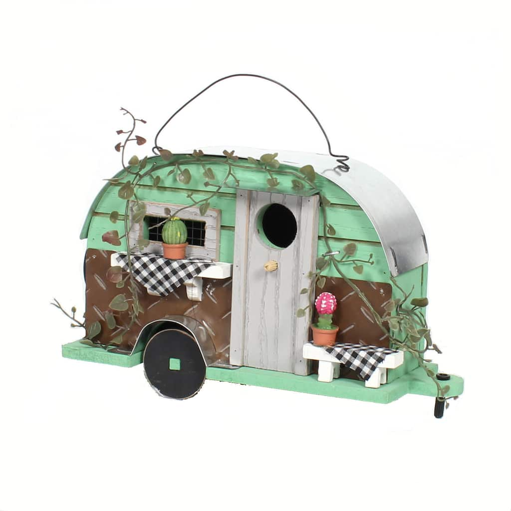 6 5 Green Camper Birdhouse By Ashland Michaels